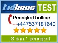tellows Bewertung +447537181640